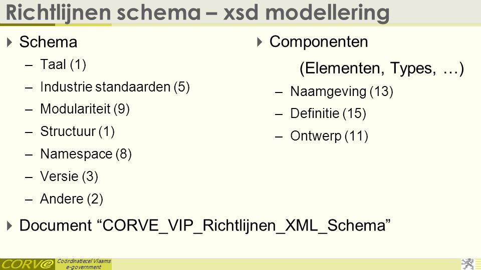 Richtlijnen schema – xsd modellering