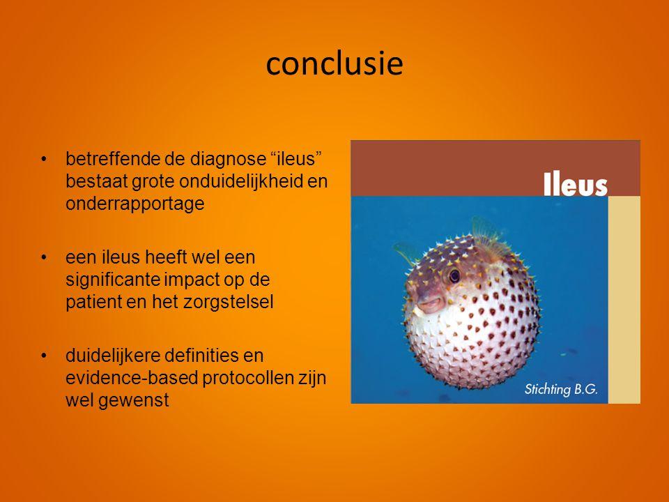 conclusie betreffende de diagnose ileus bestaat grote onduidelijkheid en onderrapportage.