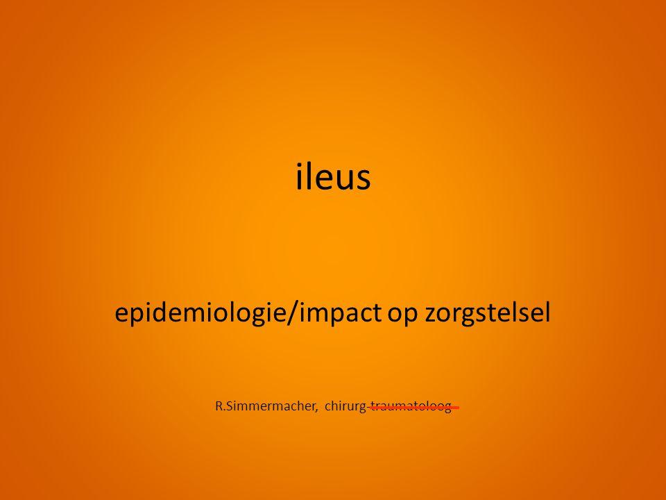ileus epidemiologie/impact op zorgstelsel