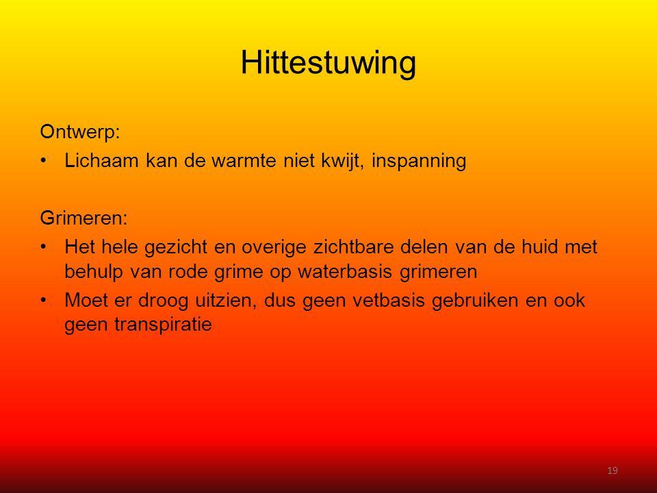 Hittestuwing Ontwerp: Lichaam kan de warmte niet kwijt, inspanning