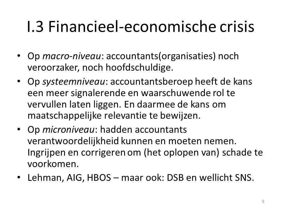 I.3 Financieel-economische crisis