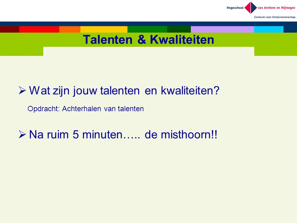 Talenten & Kwaliteiten