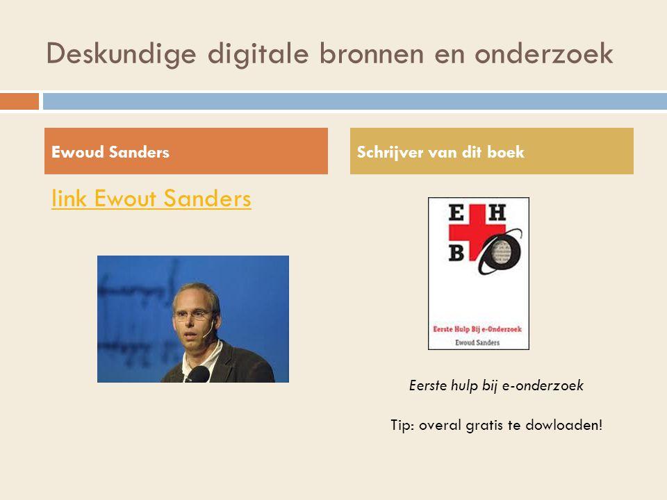 Deskundige digitale bronnen en onderzoek