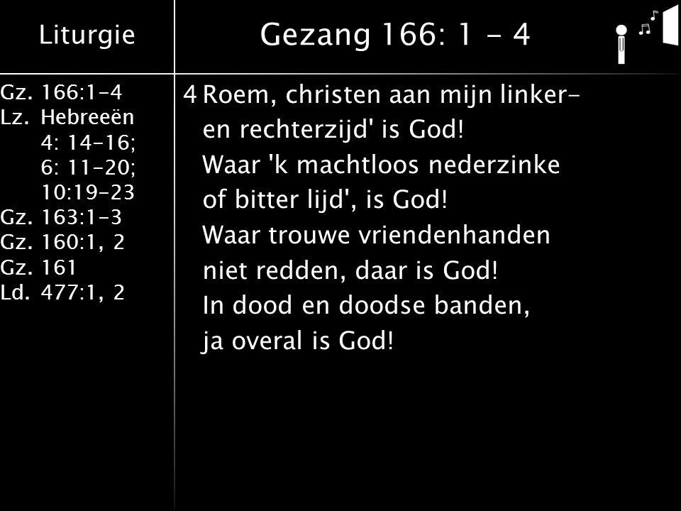 Gezang 166: 1 - 4