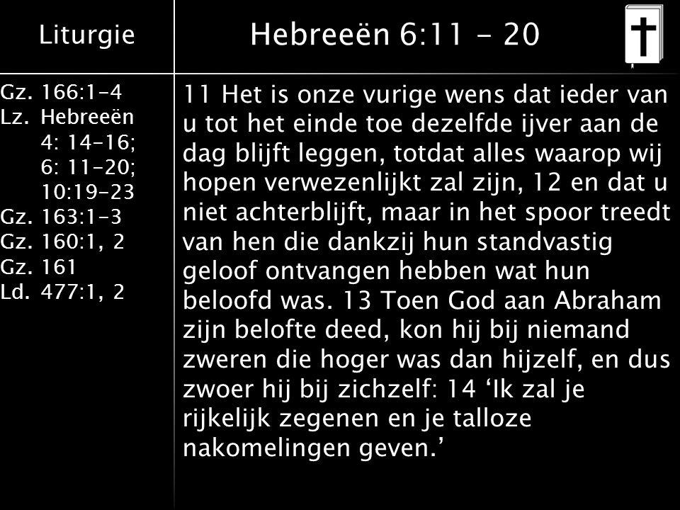 Hebreeën 6:11 - 20
