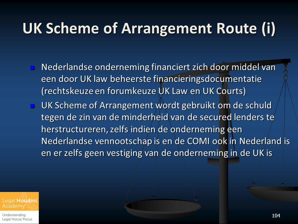 UK Scheme of Arrangement Route (i)