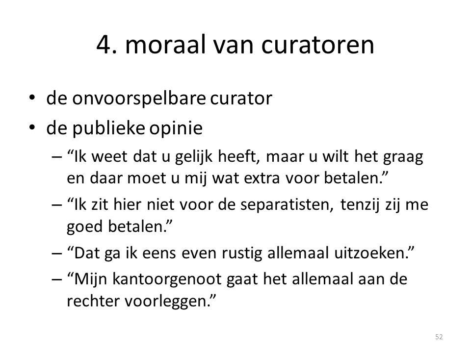 4. moraal van curatoren de onvoorspelbare curator de publieke opinie