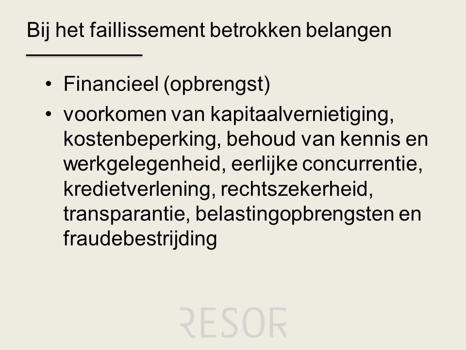 Bij het faillissement betrokken belangen