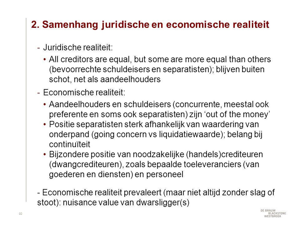 2. Samenhang juridische en economische realiteit