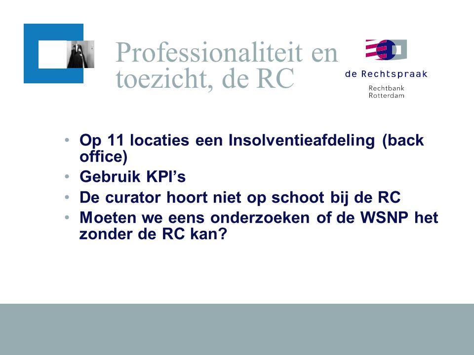 Professionaliteit en toezicht, de RC