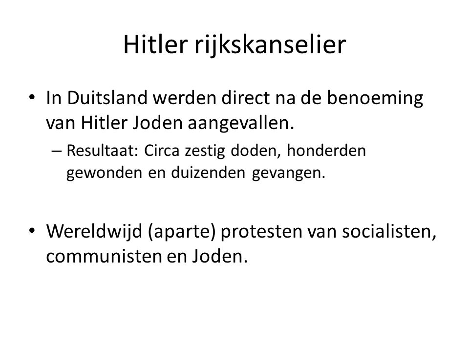 Hitler rijkskanselier