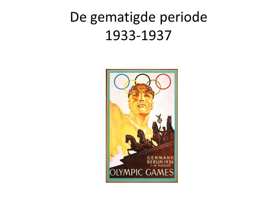 De gematigde periode 1933-1937