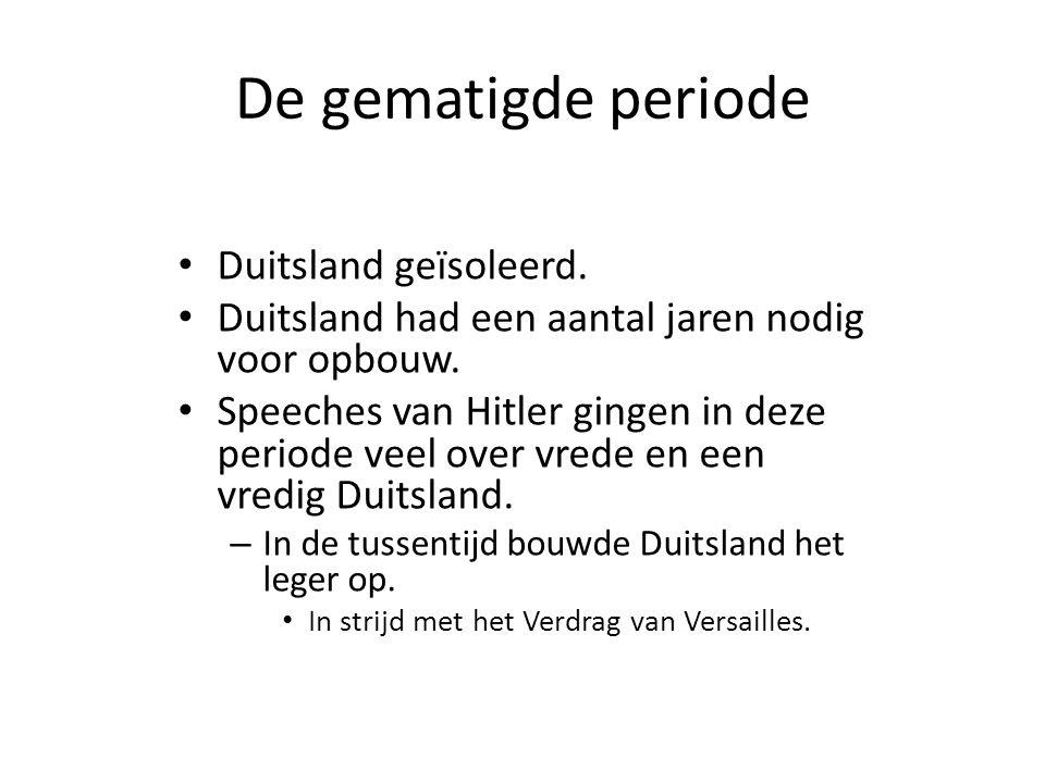 De gematigde periode Duitsland geïsoleerd.