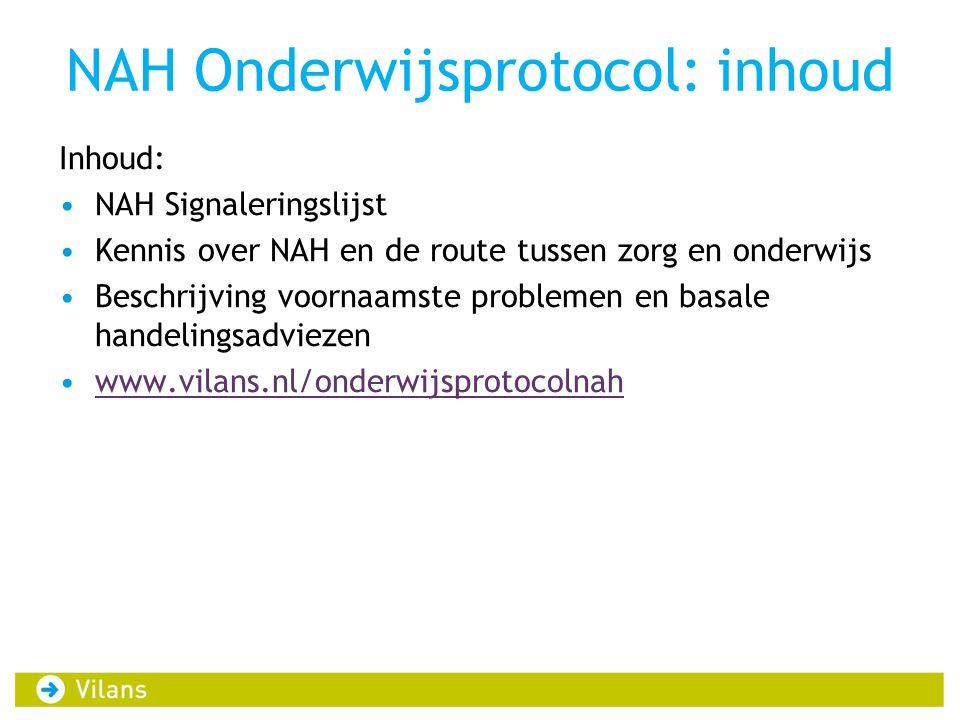NAH Onderwijsprotocol: inhoud