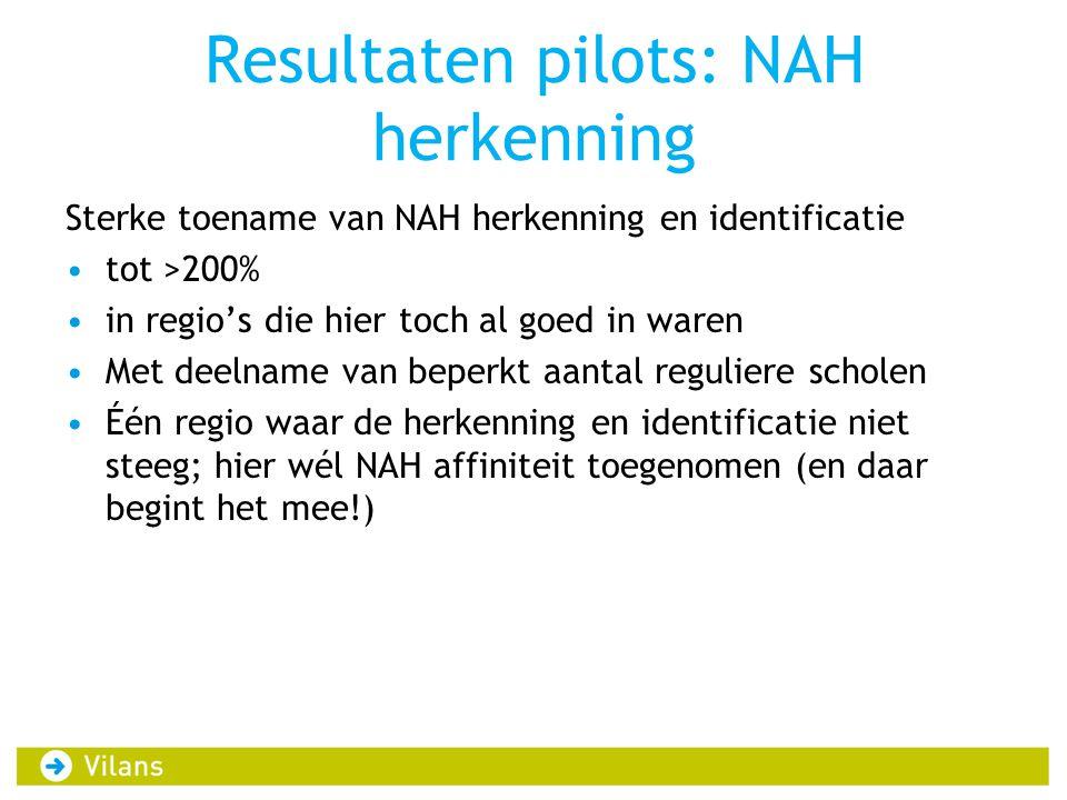 Resultaten pilots: NAH herkenning