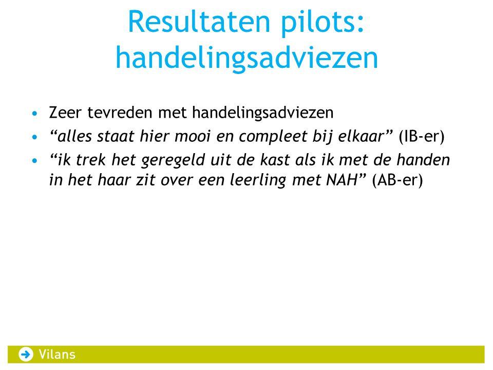 Resultaten pilots: handelingsadviezen