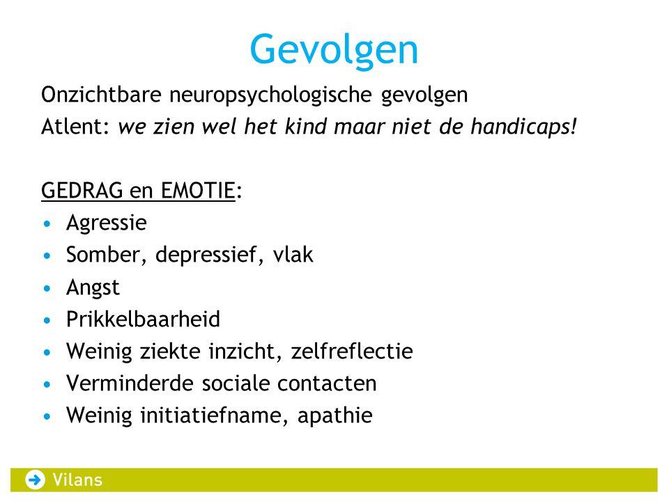 Gevolgen Onzichtbare neuropsychologische gevolgen