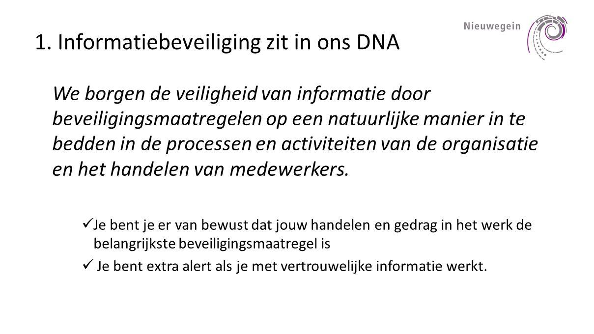 1. Informatiebeveiliging zit in ons DNA
