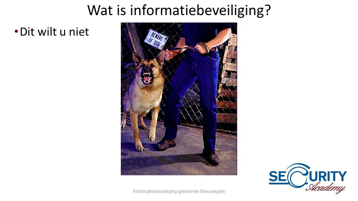 Wat is informatiebeveiliging
