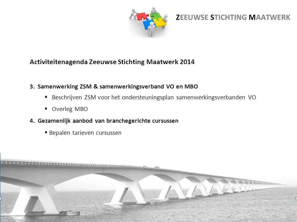 Activiteitenagenda Zeeuwse Stichting Maatwerk 2014