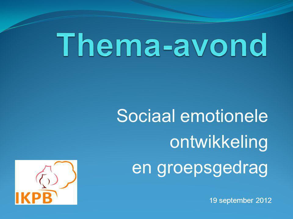 Sociaal emotionele ontwikkeling en groepsgedrag