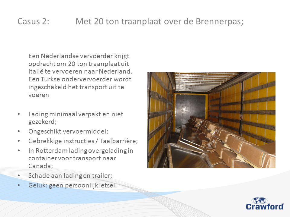 Casus 2: Met 20 ton traanplaat over de Brennerpas;