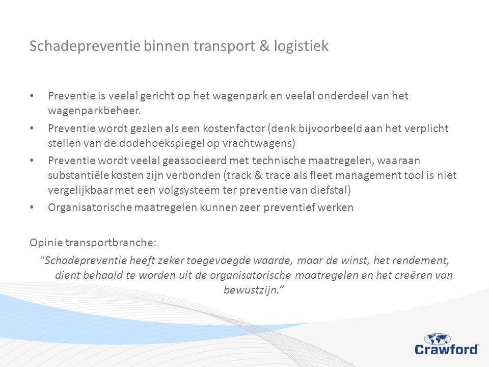 Schadepreventie binnen transport & logistiek