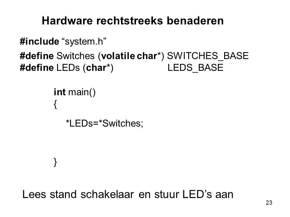 Hardware rechtstreeks benaderen