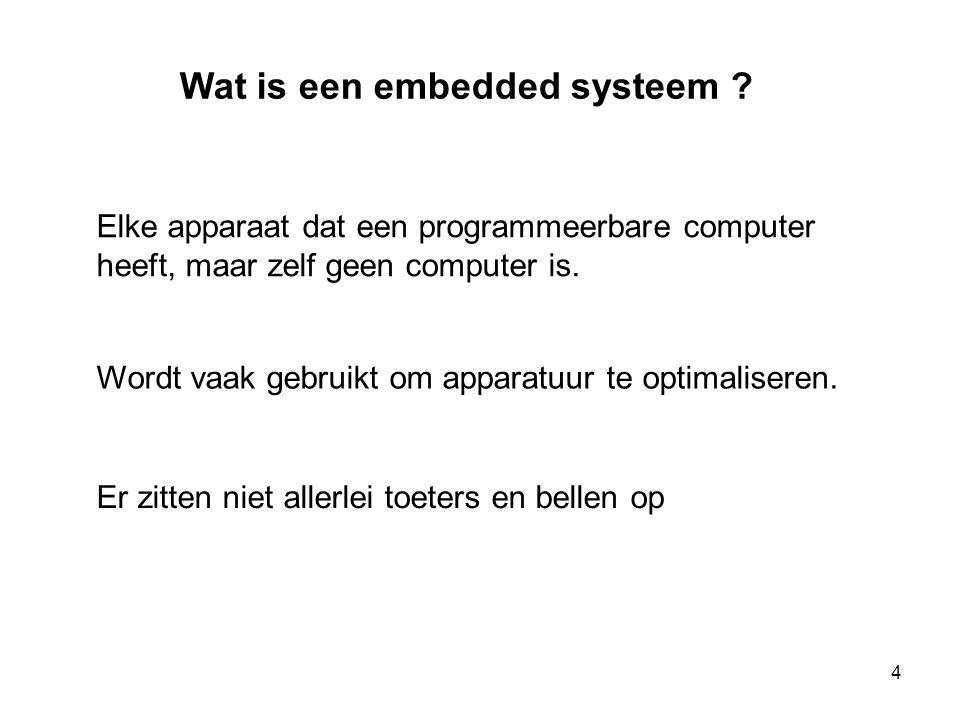 Wat is een embedded systeem