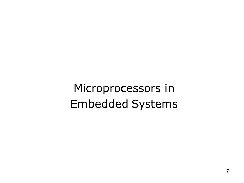 Microprocessors in Embedded Systems