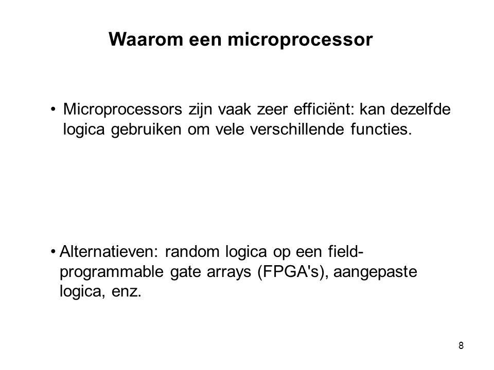 Waarom een microprocessor