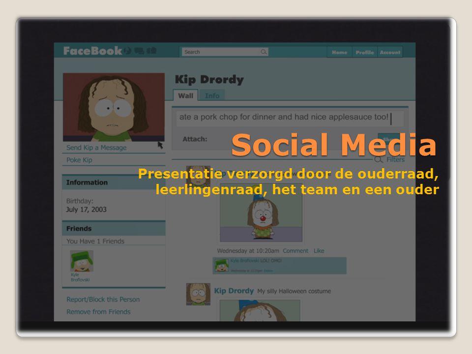 Social Media Presentatie verzorgd door de ouderraad,