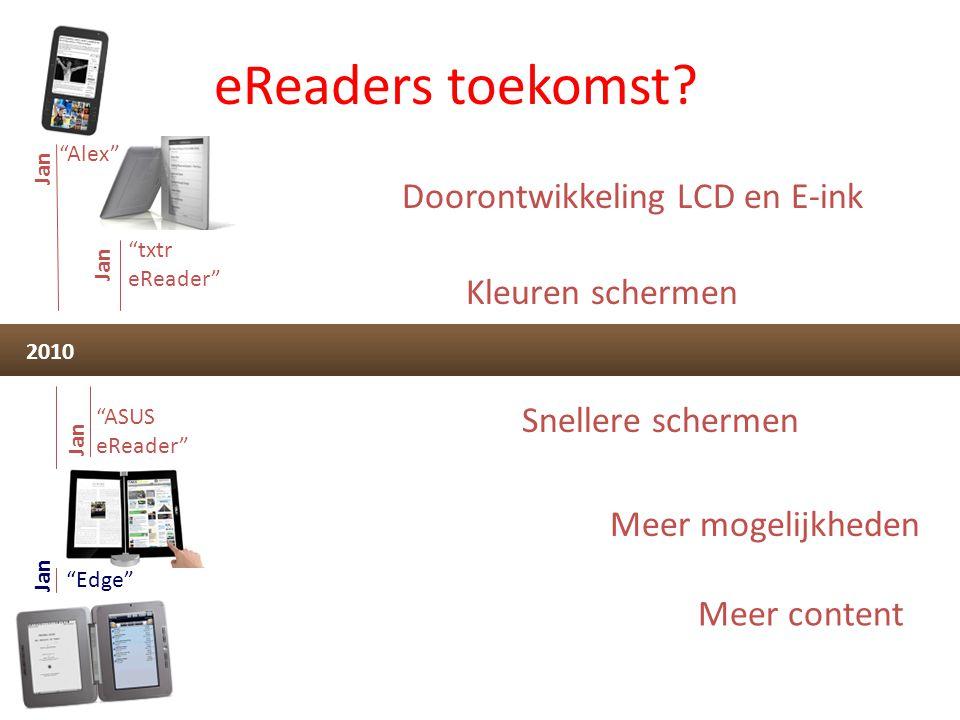 eReaders toekomst Doorontwikkeling LCD en E-ink Kleuren schermen