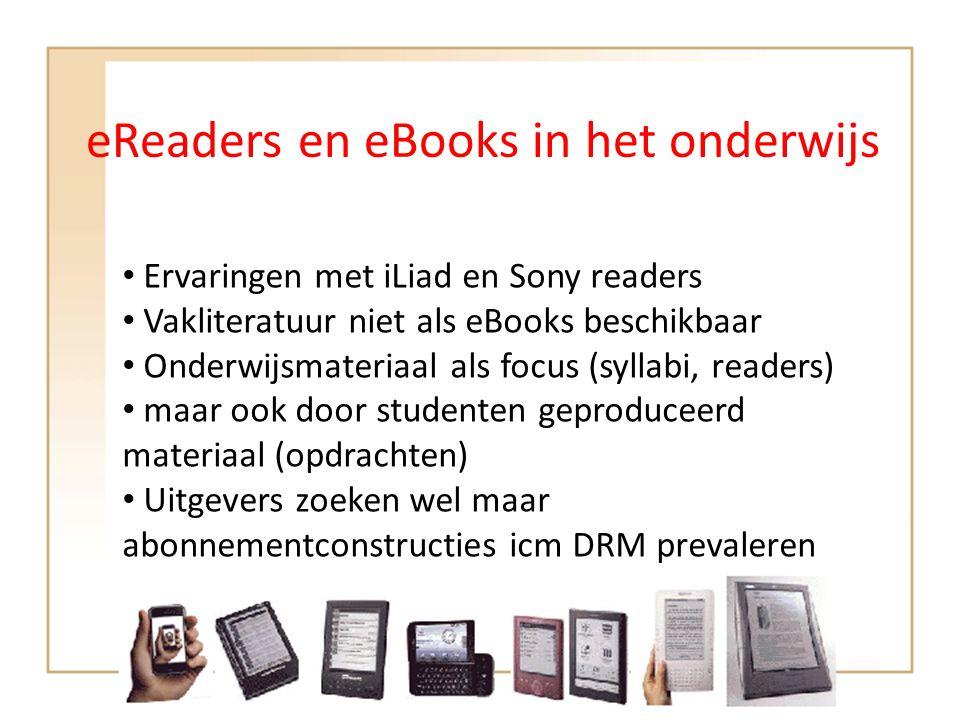 eReaders en eBooks in het onderwijs