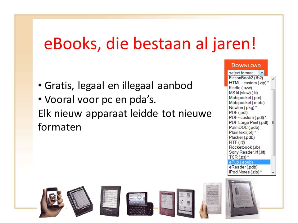 eBooks, die bestaan al jaren!