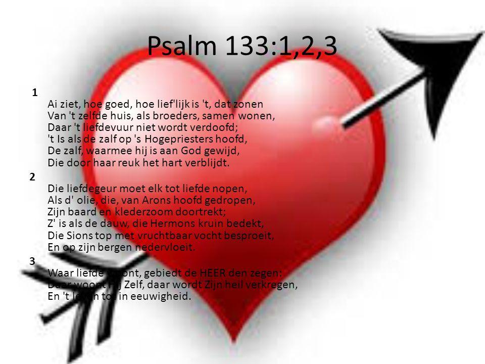 Psalm 133:1,2,3