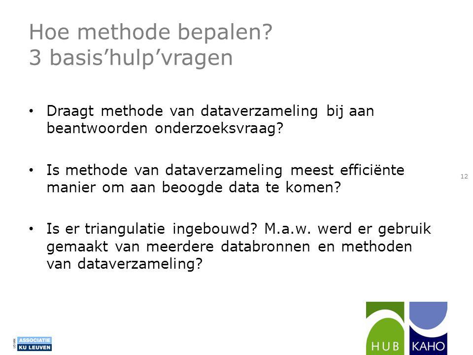 Hoe methode bepalen 3 basis'hulp'vragen