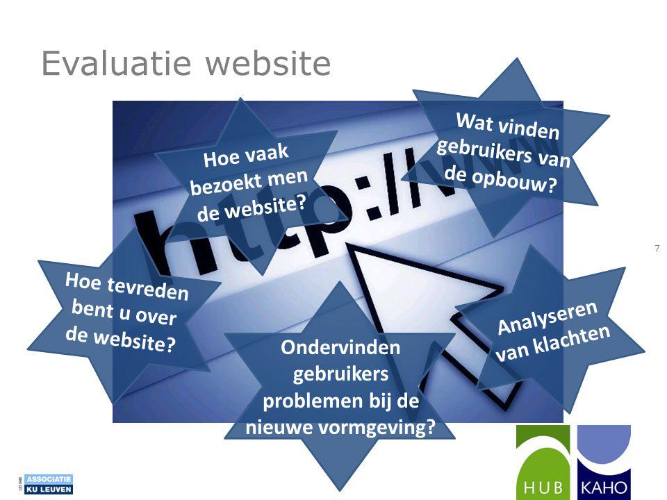 Evaluatie website Wat vinden gebruikers van de opbouw