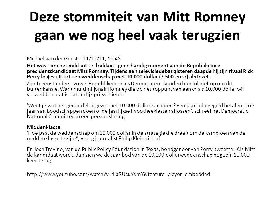 Deze stommiteit van Mitt Romney gaan we nog heel vaak terugzien