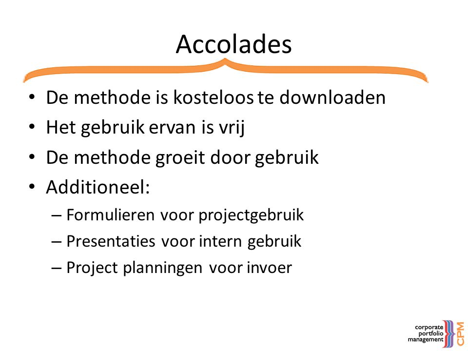 Accolades De methode is kosteloos te downloaden