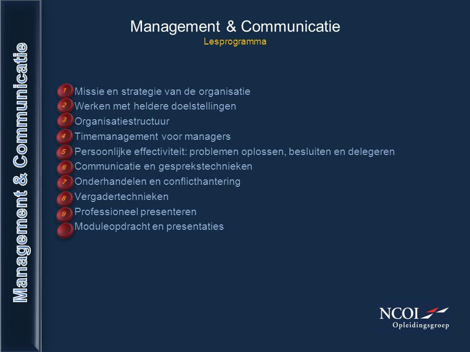 Management & Communicatie Lesprogramma