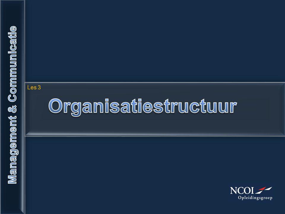 Organisatiestructuur Management & Communicatie