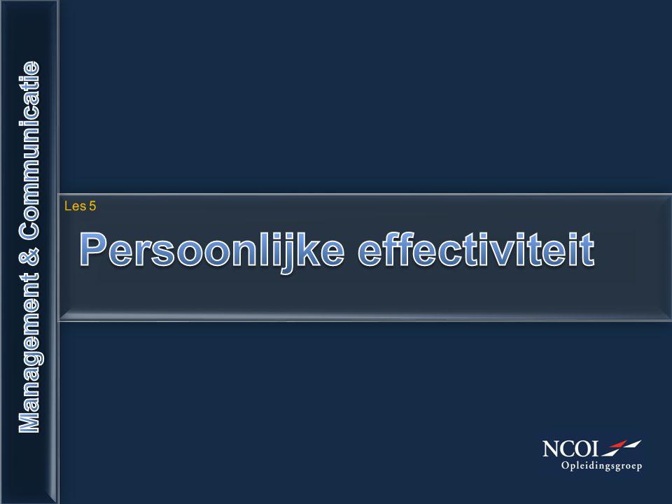 Persoonlijke effectiviteit Management & Communicatie