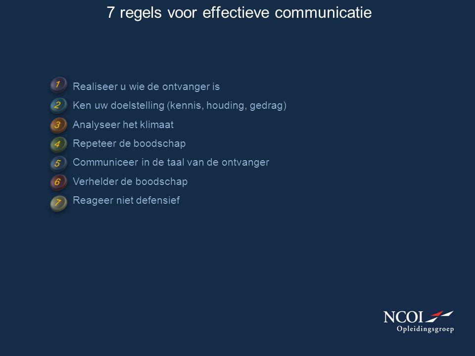 7 regels voor effectieve communicatie