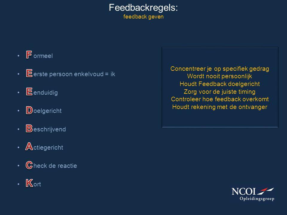 Feedbackregels: feedback geven