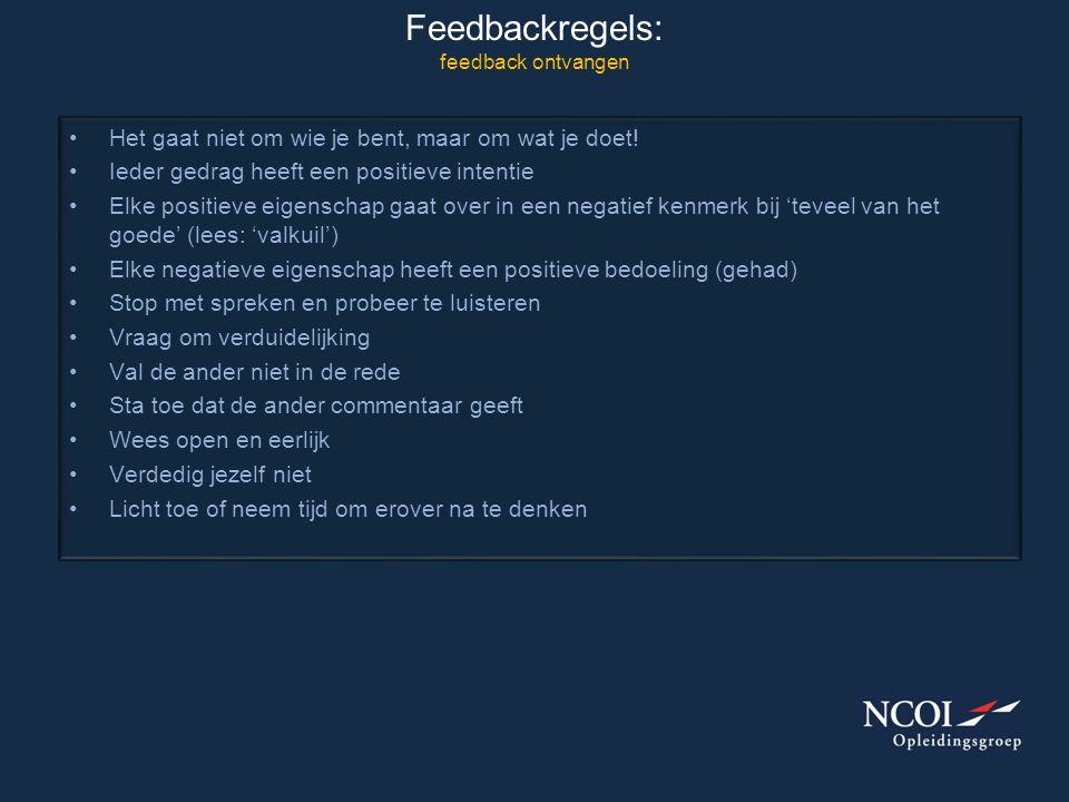 Feedbackregels: feedback ontvangen