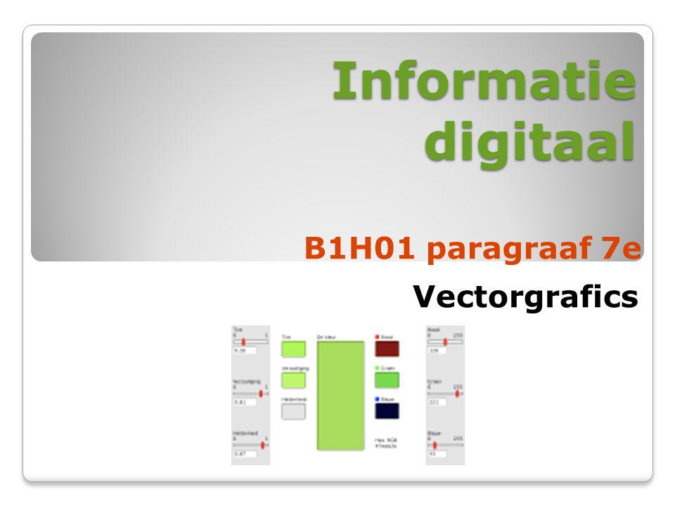 Informatie digitaal B1H01 paragraaf 7e Vectorgrafics