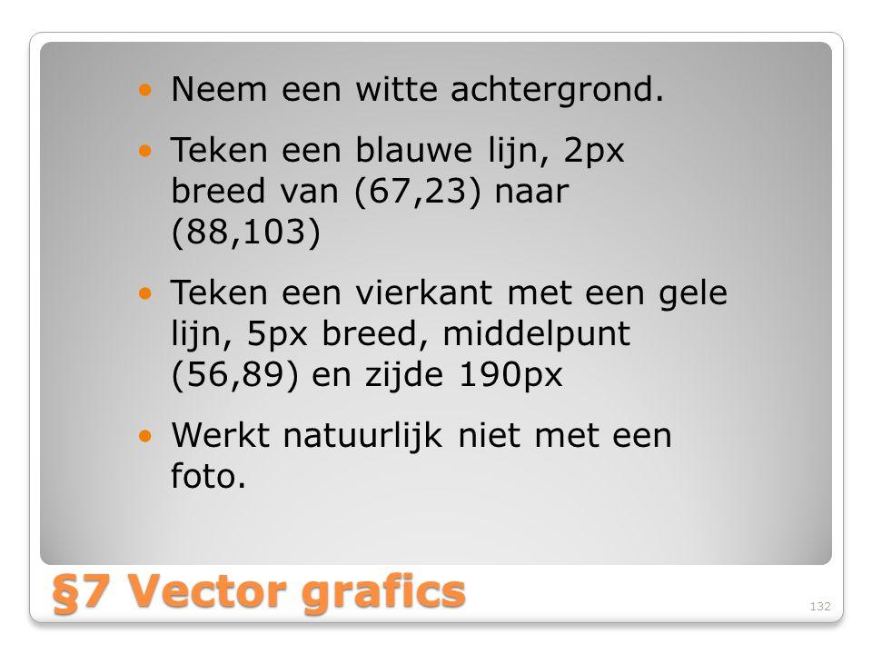 §7 Vector grafics Neem een witte achtergrond.