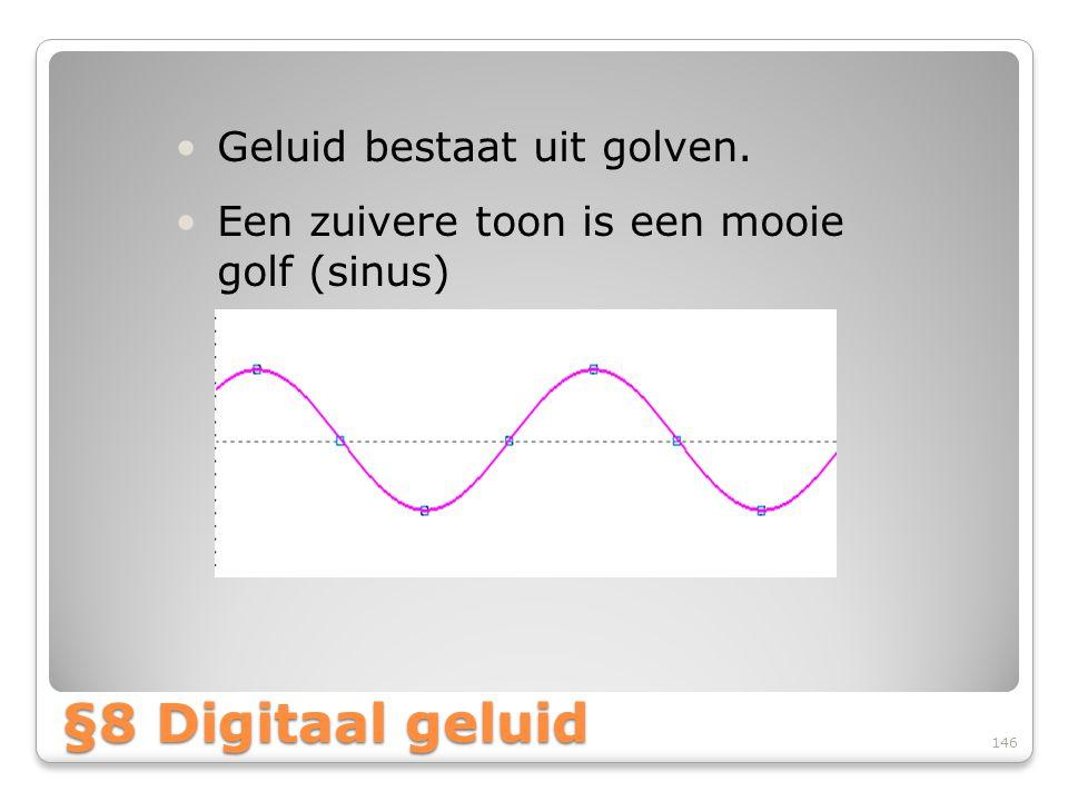 §8 Digitaal geluid Geluid bestaat uit golven.