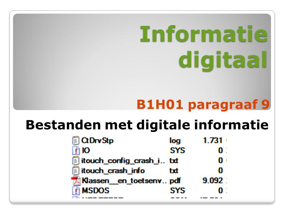 Informatie digitaal B1H01 paragraaf 9